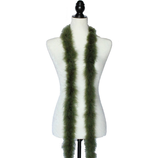22 Grams Olive Green Marabou Feather Boa