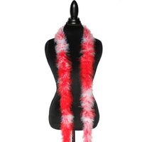 22 Grams Red/White Mix Marabou Feather Boa