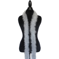 22 Grams silver Grey  Marabou Feather Boa