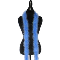 22 Grams Azure Blue With Lurex Tinsel Marabou Feather Boa