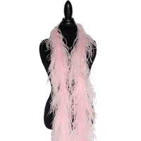 "2 ply 72"" Baby Pink Ostrich Feather Boa"
