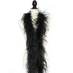 "2 ply 72"" Black	Ostrich Feather Boa"