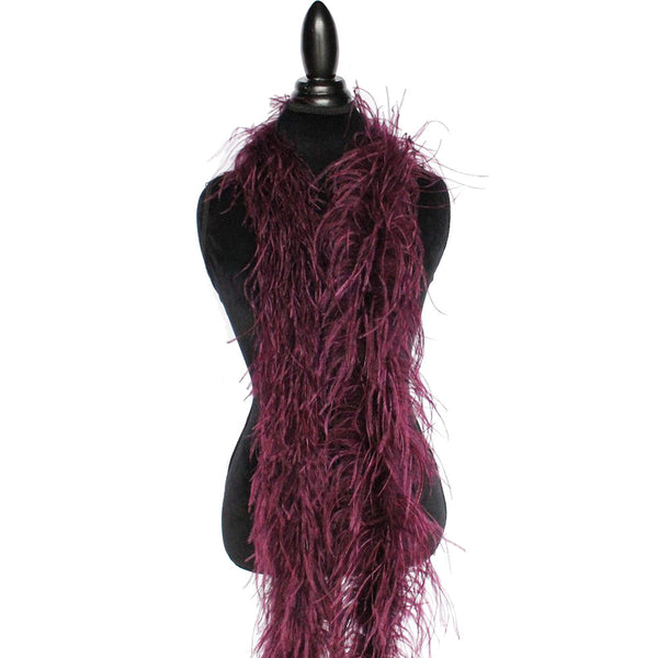 "2 ply 72"" Wine Ostrich Feather Boa"