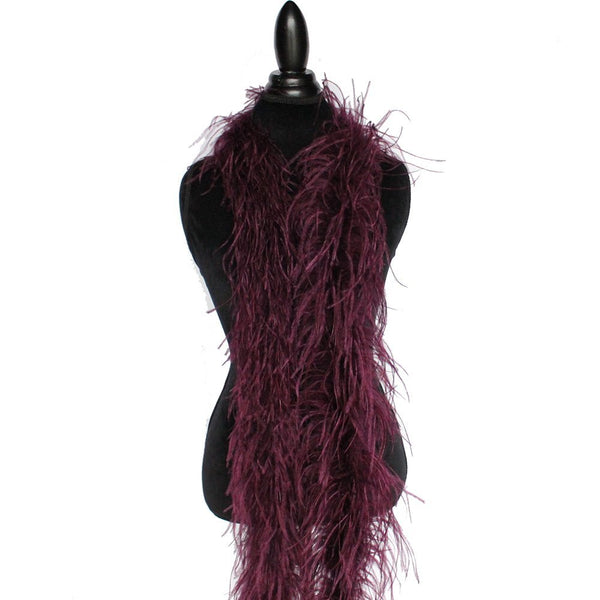 "3 ply 72"" Wine Ostrich Feather Boa"