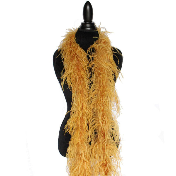 "2 ply 72"" Ginger Ostrich Feather Boa"
