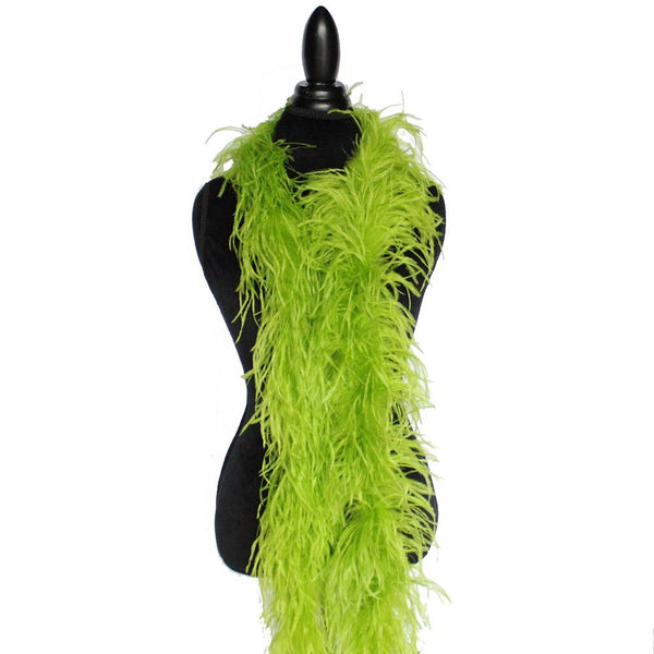 "2 ply 72"" Lime Green Ostrich Feather Boa"