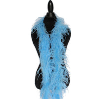"2 ply 72"" Periwinkle Ostrich Feather Boa"