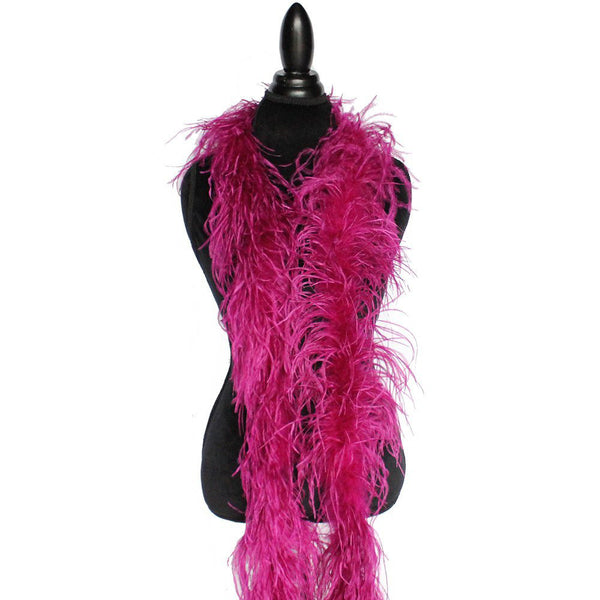 "2 ply 72"" Purple Plum Ostrich Feather Boa"