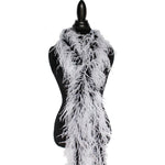 "2 ply 72"" Black/White Ostrich Feather Boa"