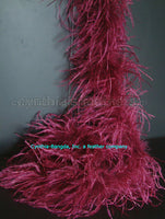 "2 ply 72"" Burgundy Ostrich Feather Boa"