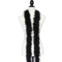 30 gram Black Marabou Feather Boa 6 Feet Long