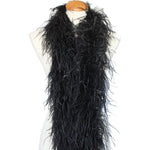 "3 ply 72"" Black Ostrich Feather Boa"