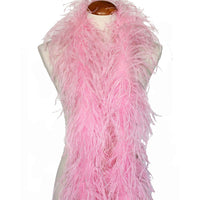 "3 ply 72"" Candy Pink Ostrich Feather Boa"