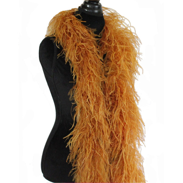 "3 ply 72"" Ginger Ostrich Feather Boa"