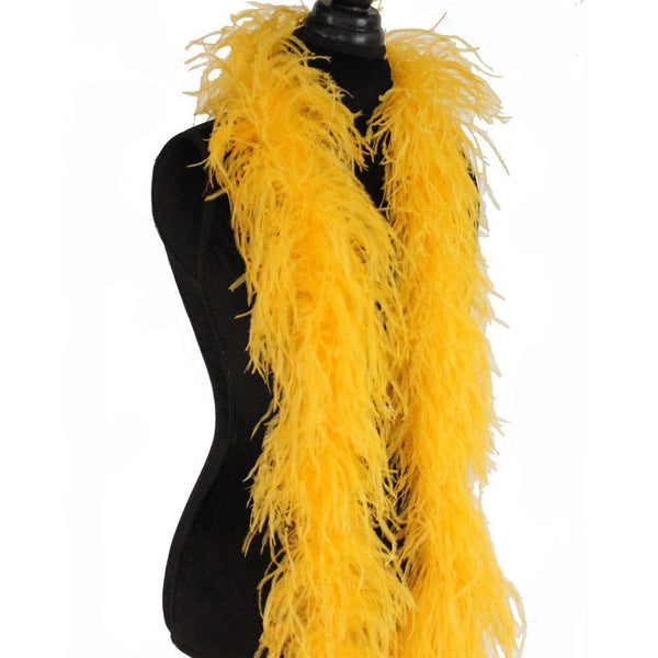 "3 ply 72"" Gold Ostrich Feather Boa"