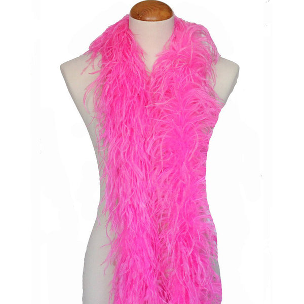"3 ply 72"" Hot Pink Ostrich Feather Boa"
