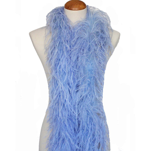"3 ply 72"" Light Blue Ostrich Feather Boa"