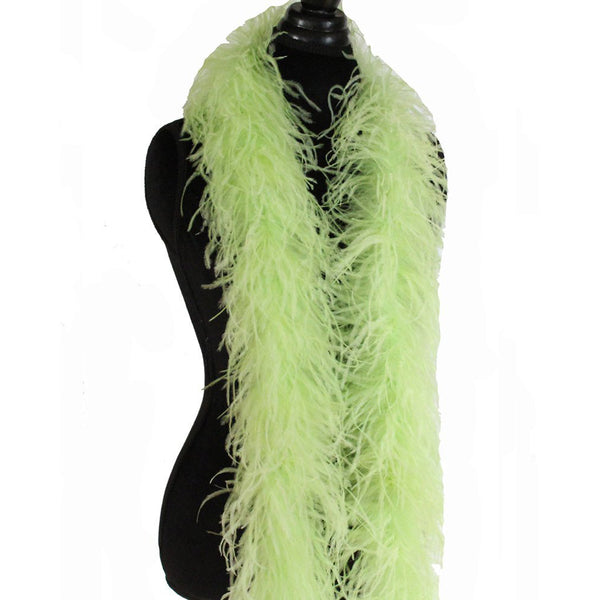 "3 ply 72"" Light Lime Ostrich Feather Boa"