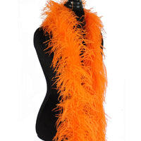 "3 ply 72"" Orange Ostrich Feather Boa"