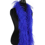 "3 ply 72"" Royal Blue Ostrich Feather Boa"