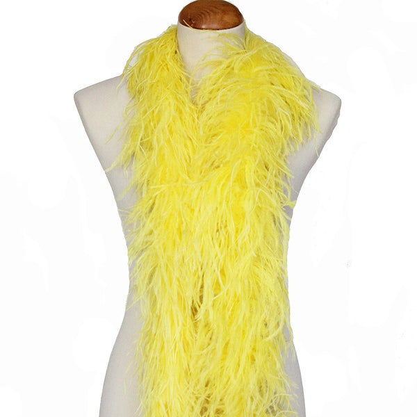 "3 ply 72"" Yellow Ostrich Feather Boa"