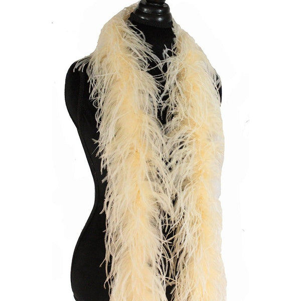 "3 ply 72"" Champagne Ostrich Feather Boa"