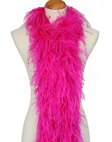 "3 ply 72"" Fuchsia Ostrich Feather Boa"
