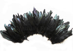 "20 Grams (0.7 oz) 4-6"" Half Bronze Black Schlappen Coque Rooster Feathers, ~200 pcs"