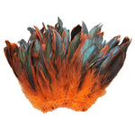 "20 Grams (0.7 oz) 4-6"" Half Bronze Orange Schlappen Coque Rooster Tail Feathers, ~200 pcs"