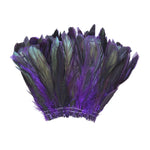"20 Grams (0.7 oz) 4-6"" Half Bronze Purple Schlappen Coque Rooster Tail Feathers, ~200 pcs"