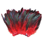 "20 Grams (0.7 oz) 4-6"" Half Bronze Red Schlappen Coque Rooster Tail Feathers, ~200 pcs"