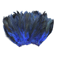 "20 Grams (0.7 oz) 4-6"" Half Bronze Royal Blue Schlappen Coque Rooster Tail Feathers, ~200 pcs"