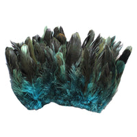 "20 Grams (0.7 oz) 4-6"" Half Bronze Teal Schlappen Coque Rooster Tail Feathers, ~200 pcs"