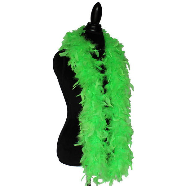 45 Grams Bright Green Chandelle Feather Boa
