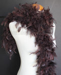 45 Grams Chocolate Brown Chandelle Feather Boa