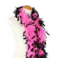 45 Grams Hot Pink With Black Tips Chandelle Feather Boa
