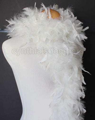45 Grams Ivory Chandelle Feather Boa