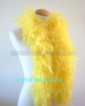 45 Grams Yellow Chandelle Feather Boa