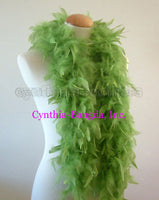 45 Grams Lime Green Chandelle Feather Boa