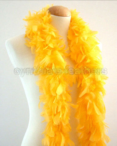 45 Grams Golden Yellow Chandelle Feather Boa