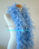 45 Grams Baby Blue Chandelle Feather Boa