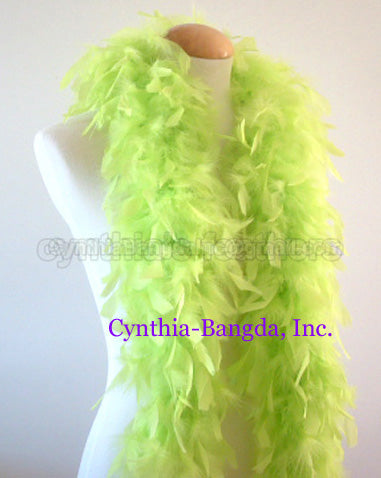 45 Grams Light Lime Green Chandelle Feather Boa