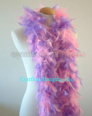 45 Grams Baby Pink/Lavender Mix Chandelle Feather Boa