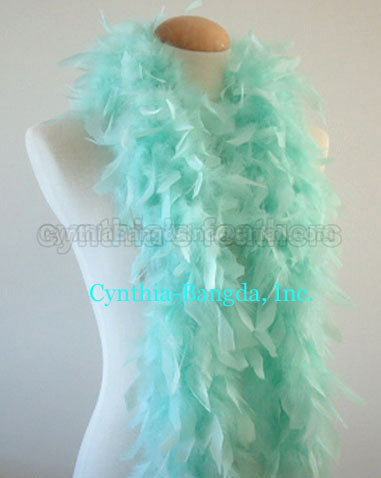 45 Grams Mint Green Chandelle Feather Boa