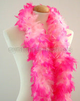 45 Grams Baby Pink With Hot Pink Tips Chandelle Feather Boa