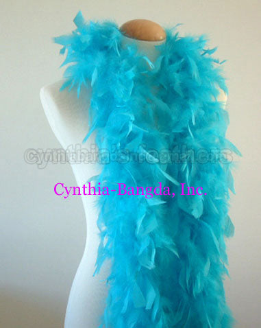 45 Grams Turquoise Chandelle Feather Boa