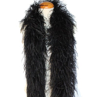 "4 ply 72"" Black Ostrich Feather Boa"