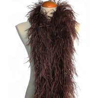 "4 ply 72"" Chocolate Brown Ostrich Feather Boa"