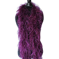 "4 ply 72"" Purple Plum Ostrich Feather Boa"