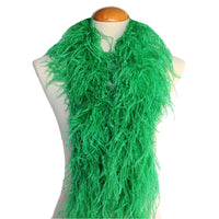 "4 ply 72"" Emerald Ostrich Feather Boa"